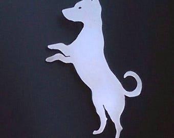 Hopeful Dog Brooch