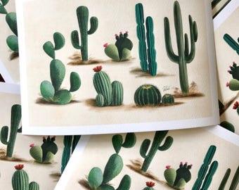 Cacti Print 9x6