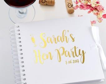 Hen Do / bachelorette / Party Personalised Scrapbook / Photo Album