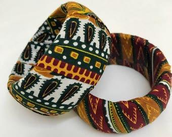 African Ankara Bangles Set