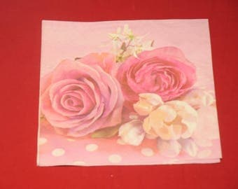 """paper towel theme flowers """"roses"""""""
