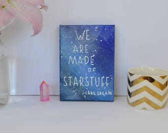 Carl Sagan Quote - We are made of Starstuff - Quotes on Canvas - Galaxy Decor - Wall Quotes - Canvas Quotes - Colorful - Astronomy Art