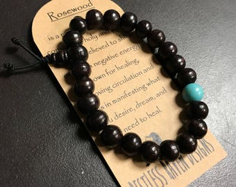 Mens Rosewood Bracelet Genuine Rare Rosewood Bracelet Mens Size Mala Bracelet Gift For Him