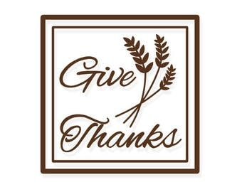Give Thanks Decal Etsy - Vinyl decals for glass blocks uk