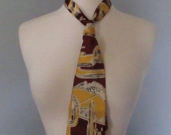 1940s Tie with Desert Scene