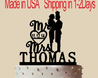 Rare Man Cook And Bride Cake Topper, Personalized Cake Topper, Wedding Cake Topper,  Shower Topper, Wedding Decoration, Silhouette,  CT196