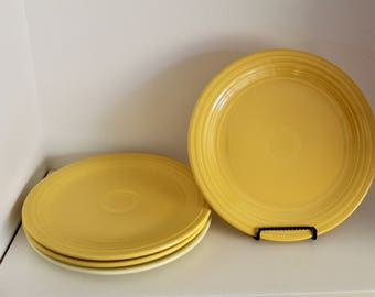 Vintage Original Fiesta Ware Luncheon Plates by Homer Laughlin 9.5 inches.