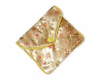"""Chinese design zipper pouch, 3.5"""" x 3"""", sold by the dozen"""