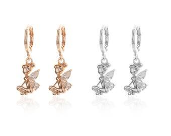 Tinkerbell Inspired Angel Wing Earrings
