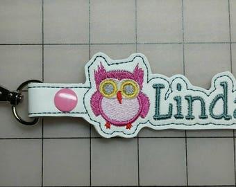 Personalized Owl Key Fob