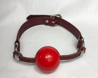 Burgundy ball gag