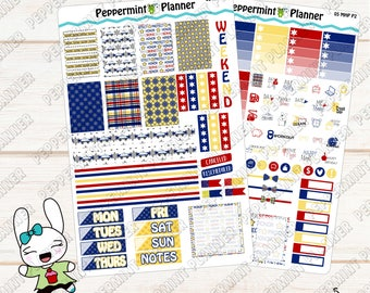Police Weekly planner Kit --- Planner Stickers --- For use with the Mini Happy Planner --- MHP05