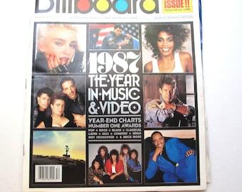 Billboard Magazine, Double Issue Year End, December 26, 1987 Volume 99 No 52