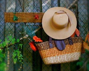 Garden Faucet wall coat Rack - Recycled wood