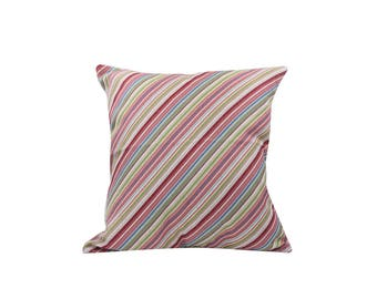 Striped decorative pillow covers Geometric throw pillow covers Linen pillow cases Rustic cushion cover Sofa accent pillows Home decor 18x18