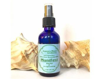 Manifest Pure Essential Oil Aromatherapy Mist Fir, Lavender, Lemon, Cypress, Patchouli Natural  Fragrance Chemical Free Room Body Spray