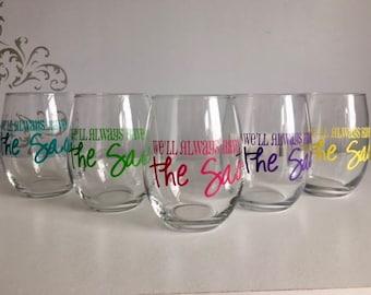 Gifts for neighbors, custom wine glasses, block party, custom wine gifts, cul de sac gifts, cul de sac wine glasses, personalized wine glass