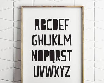 70% OFF SALE alphabet wall decor, alphabet printable, alphabet wall art, alphabet room decor, alphabet wall art print, alphabet print