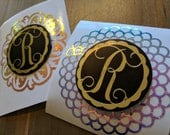 Magnetic car mount Personalized Vinyl Decal, cell phone monogram
