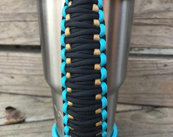 Jacksonville Jaguars Bungee Handle for Tumblers, Tumbler Handle, Paracord Handle, Fits Yeti, Ozark, RTIC and other 20oz/30oz/40oz Tumblers