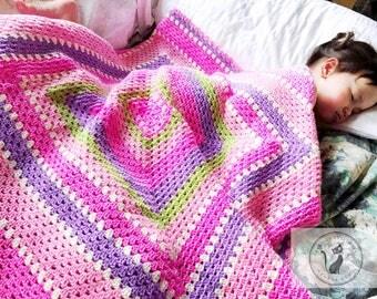 Vintage baby girl blanket