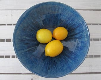 modern navy bowl, ceramic bowl handmade pottery, dark blue bowl, decorative bowl, handmade ceramics, bowl for fruits, minimalistic bowl
