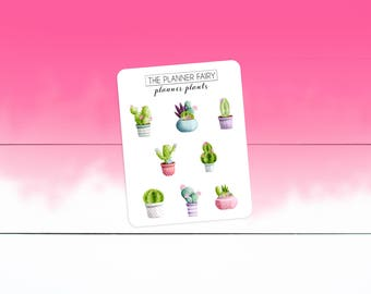 Planner Plants || Deco Sheet || The Planner Fairy Decorative Planner Stickers Succulent Planner Stickers Cactus Planner Stickers