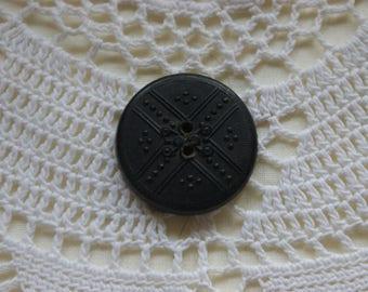 """Victorian Black Button Jet 1"""""""