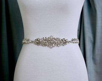 Rhinestone Bridal Belt, Bridal Sash, Wedding Belt, Wedding Sash Rhinestone prom belt