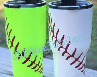 20 oz RTIC SOFTBALL/ BASEBALL powdercoated tumbler