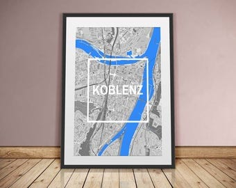 Koblenz-framed City-digital printing