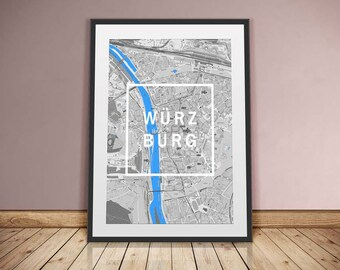 Würzburg-framed city-digital printing