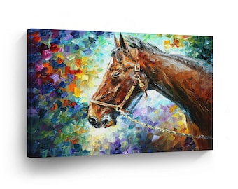 Horse oil painting  Etsy