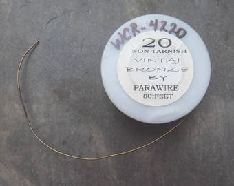 Vintaj bronze wire ~ antiqued brass/bronze ~ 20ga (0.8mm) soft ~ 5ft (150cm) - UK seller