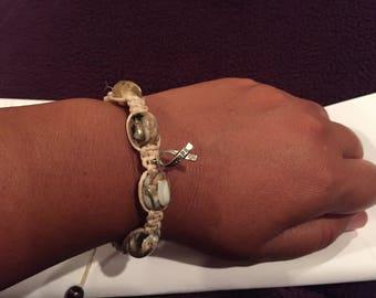 Hope Hemp Beaded Bracelet