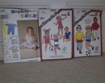 Vintage Simplicity Baby/Toddler/Child Patterns
