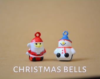 Christmas cat bells for cat collars - Snowman bell - Father Christmas - Santa Claus - add on bells for Crafts4Cats  collars