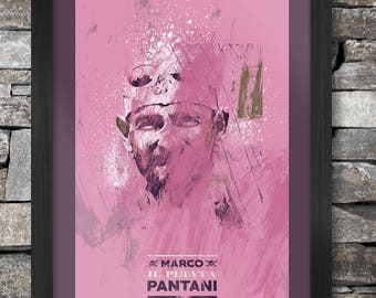 Marco Pantani - Abstract Style Poster Print