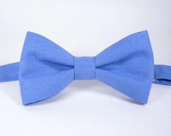 Linen Light Blue Bow Tie Sky blue bow tie Bow Tie for Men Mens blue ties baby blue bow tie boy's toddler's, baby's