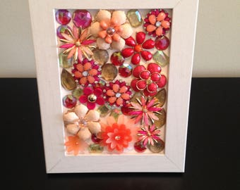 Embellished Jeweled Tabletop Art