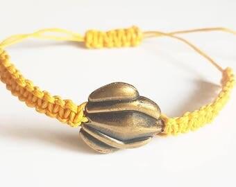 Antique style braid bracelet