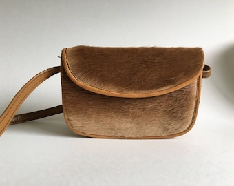 Vintage Taxidermy Handbag Zimmermann Ltd. Tan Fur Purse