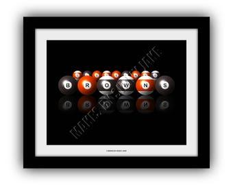 Cleveland Browns  Billiards Print