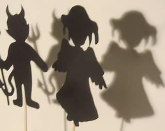 Shadow play set fantasy - fantasy - fantastic entertainment for children