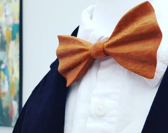 Cherry Wood Bow Tie