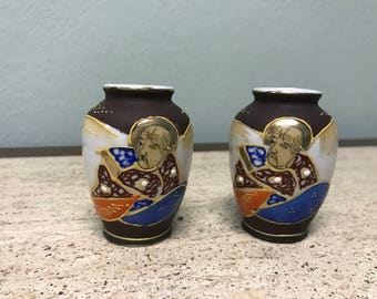 Pair of Made in Occupied Japan Miniature Vases