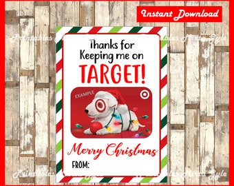 Target GIFT CARD HOLDER, Printable, Editable, Gift Card Holder, Teacher Appreciation Gift, Instant Download, Teacher Gift