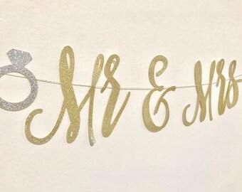 Miss to Mrs Banner, Bridal Shower Banner, Bachelorette Banner, Wedding Shower, Bridal Shower, Engagement