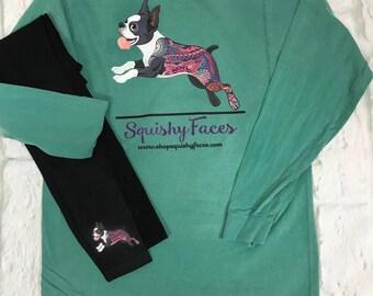Dog Leggings - Pet Leggings - Cat Leggings - Custom Black Leggings - Paw Print Leggings - Personalized Leggings - Black Spandex Leggings