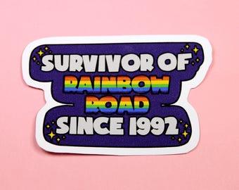 Rainbow Road Mario Kart Vinyl Sticker